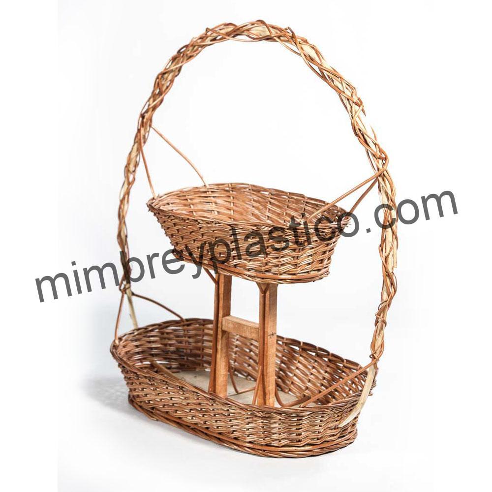 Cestas de mimbre para navidad blog mimplas - Como forrar cestas de mimbre ...