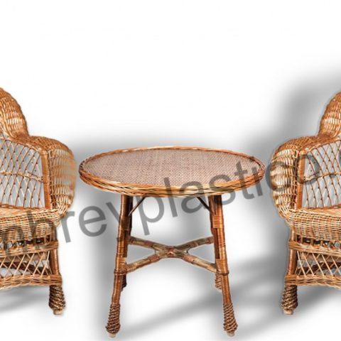 Conjunto Muebles de Mimbre para Terraza