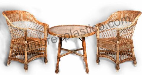 muebles de mimbre para jardin 1