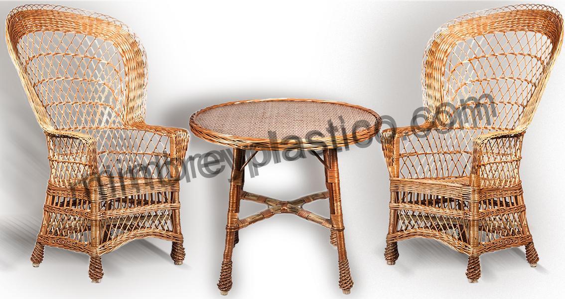 Sillones mimbre mesa y sillones de mimbre vendo sillon for Sillones terraza baratos