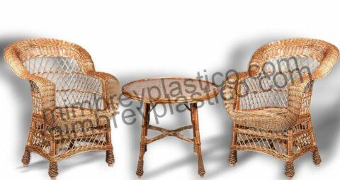 sillones y mesas de mimbre para terrazas 1
