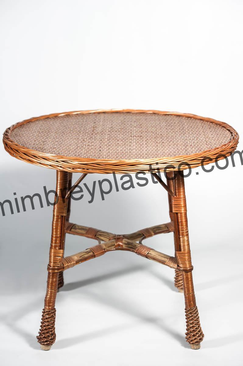 Mesa mimbre 60 redonda venta en mimplas artesan a - Mesas de mimbre ...