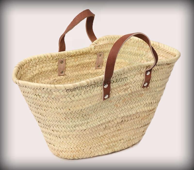 Capazo cerde a asa de cuero ideal para tu verano capazos de mimbre mimplas artesan a - Capazo mimbre playa ...