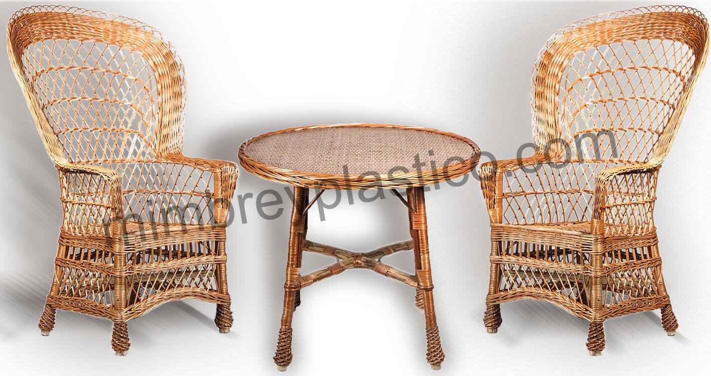Sillas y sillones de mimbre mimplas for Sillas para terrazas baratas